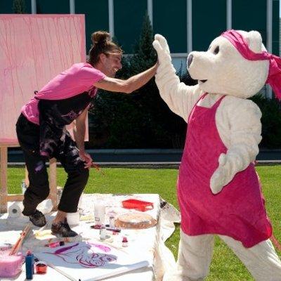 Rozie, mascotte Avon Canada, Paint It Pink, Montréal 2009