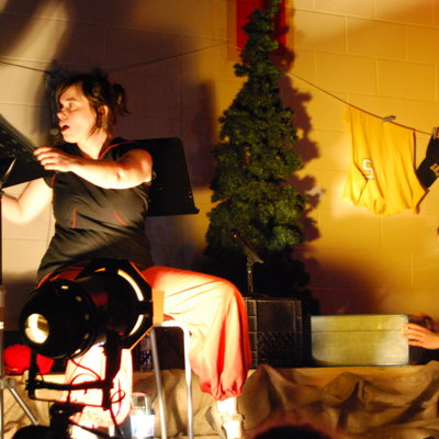 Histoires fantastiques autour du feu avec Gabi Macaluso, Blainville, Qc. 2012
